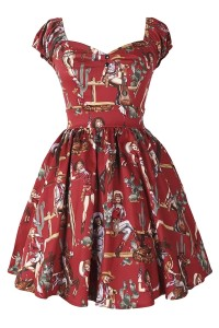 Burgundy High-Waisted Graphic Western Girls Princess Dress OASAP bester Fashion-Online-Shop aus China