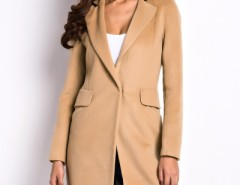Camel Slim Lapel Woolen Coat OASAP bester Fashion-Online-Shop aus China