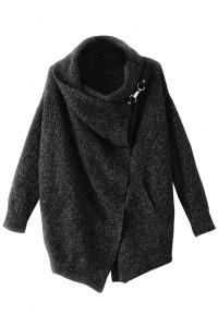 Casual Heather Black Cardigan OASAP bester Fashion-Online-Shop aus China