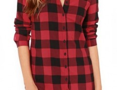 Casual Plaid Button Down Shirt OASAP bester Fashion-Online-Shop aus China