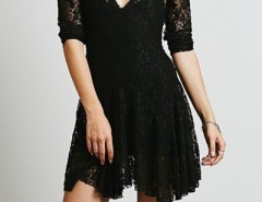 Charming V Neck Mini Lace Dress OASAP bester Fashion-Online-Shop aus China
