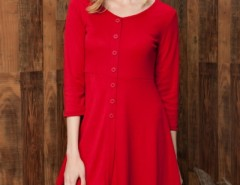 Chic Button Down Trapeze Dress OASAP bester Fashion-Online-Shop aus China