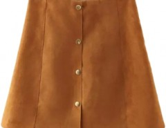 Chic Button Front A-line Skirt OASAP bester Fashion-Online-Shop aus China