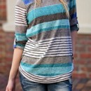 Chic Color Block Striped Tee OASAP bester Fashion-Online-Shop aus China
