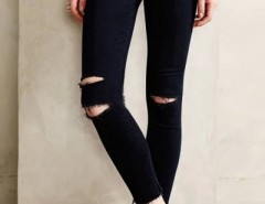 Chic Distressed Frayed Denim Pants OASAP bester Fashion-Online-Shop aus China