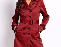Chic Double Breasted Lapel Belted Coat OASAP bester Fashion-Online-Shop aus China