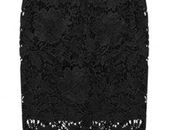 Chic Floral Lace Print Elastic Waist Midi Skirt OASAP bester Fashion-Online-Shop aus China