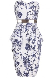 Chic Floral Printing Wrapped Chest Dress OASAP bester Fashion-Online-Shop aus China
