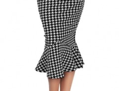 Chic Houndstooth Printing Flouncing Skirt OASAP bester Fashion-Online-Shop aus China