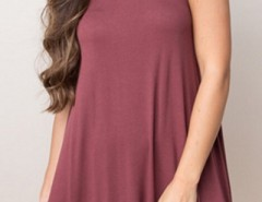 Chic Stretch Knit Trapeze Dress OASAP bester Fashion-Online-Shop aus China
