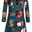 Christmas Ornaments Pattern Round Neck Dress OASAP bester Fashion-Online-Shop aus China
