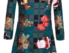 Christmas Ornaments Pattern Round Neck Dress OASAP bester Fashion-Online-Shop aus China