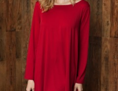 Classic Round Neck Stretch Knit Trapeze Dress OASAP bester Fashion-Online-Shop aus China