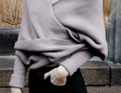 Classic Solid Color Wrap Batwing Sleeve Shawl OASAP bester Fashion-Online-Shop aus China
