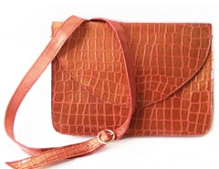 clutch - metallic leather - red Carnet de Mode bester Fashion-Online-Shop