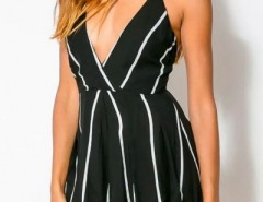 Cute Pinstriped Print Rompers OASAP bester Fashion-Online-Shop aus China