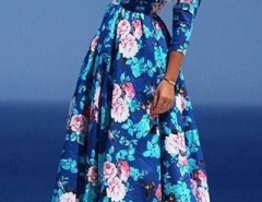 Dazzling Floral Print Pleated Maxi Dress OASAP bester Fashion-Online-Shop aus China
