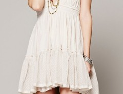 Deep V High Waist Backless Flouncing Dress OASAP bester Fashion-Online-Shop aus China