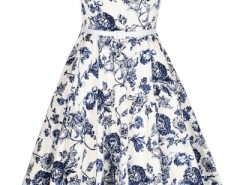 Demure Floral Boat Neck Skater Dress OASAP bester Fashion-Online-Shop aus China