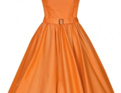 Elegant Bateau Neck Pleated Swing Skirt Dress OASAP bester Fashion-Online-Shop aus China
