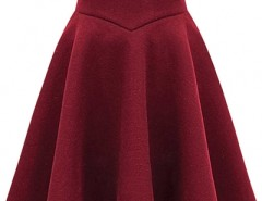 Elegant Solid Color A-line High Waist Pleated Skirt OASAP bester Fashion-Online-Shop aus China