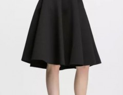 Elegant Solid Pleated Swing Skirt OASAP bester Fashion-Online-Shop aus China