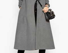 Elegant Turn-Down Collar Open Front Long Coat OASAP bester Fashion-Online-Shop aus China