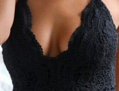 Fabulous V Neck Solid Crochet Bra Top OASAP bester Fashion-Online-Shop aus China