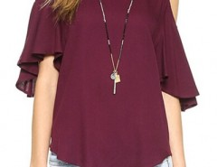 Fancy Girl Cutout Shoulder Chiffon Blouse OASAP bester Fashion-Online-Shop aus China
