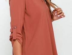 Fancy V Neck Long Sleeve Chiffon Blouse OASAP bester Fashion-Online-Shop aus China