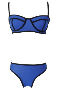 Fashion Color Block Two-piece Bikini Swimwear OASAP bester Fashion-Online-Shop aus China