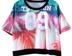 Fashion Figure Graphic Printing Crop Top OASAP bester Fashion-Online-Shop aus China