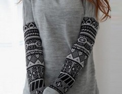 Fashion Geometric Printed Long Sleeve Sweatshirt OASAP bester Fashion-Online-Shop aus China