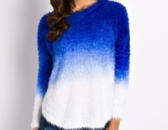 Fashion Gradient Ramp Mohair Knit Sweater OASAP bester Fashion-Online-Shop aus China