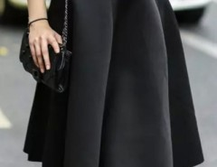 Fashion Solid High Waist Midi Skirt OASAP bester Fashion-Online-Shop aus China