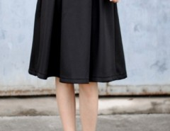 Fashion Solid Pleated Swing Skirt OASAP bester Fashion-Online-Shop aus China