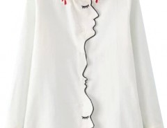 Fashion Unique White Button Down Blouse OASAP bester Fashion-Online-Shop aus China