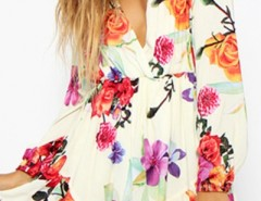Gorgeous Floral Print Long Sleeve Rompers OASAP bester Fashion-Online-Shop aus China