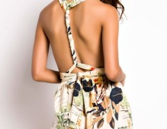 Gorgeous Floral Print Twisted Back Rompers OASAP bester Fashion-Online-Shop aus China