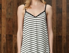 Gorgeous Striped Backless Mini Dress OASAP bester Fashion-Online-Shop aus China