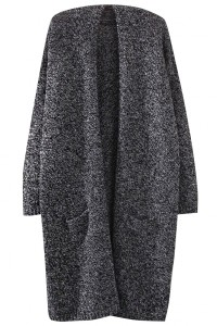 Heathered Open Front Longline Cardigan OASAP bester Fashion-Online-Shop aus China