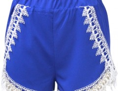 Hot Blue Lace Tassel Woman Shorts OASAP bester Fashion-Online-Shop aus China