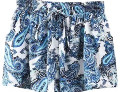 Iconic Printed  Elastic Waist Shorts OASAP bester Fashion-Online-Shop aus China