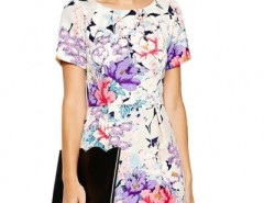 Ladylike Graphic Floral Print Mini Dress OASAP bester Fashion-Online-Shop aus China