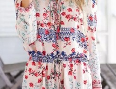 Mixed Print Drawstring Romper OASAP bester Fashion-Online-Shop aus China