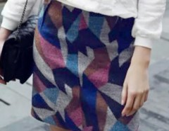 Modern Geo-Print High Waist Skirt OASAP bester Fashion-Online-Shop aus China