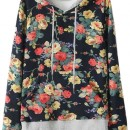 Multi Floral Print Drawstring Hooded Sweatshirt OASAP bester Fashion-Online-Shop aus China