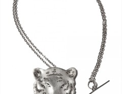 pendant-brooch silver necklace - tiger Carnet de Mode bester Fashion-Online-Shop