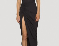 Plunging Neck Ruched Wrap Dress OASAP bester Fashion-Online-Shop aus China