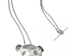 silver pendant/necklace - Panda Carnet de Mode bester Fashion-Online-Shop